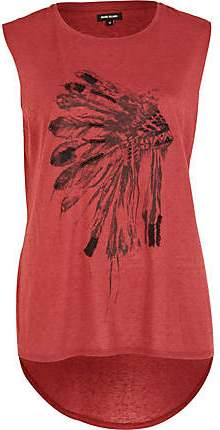 #5 River Island feather top