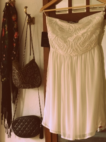 My perfect white zara dress with crochet details