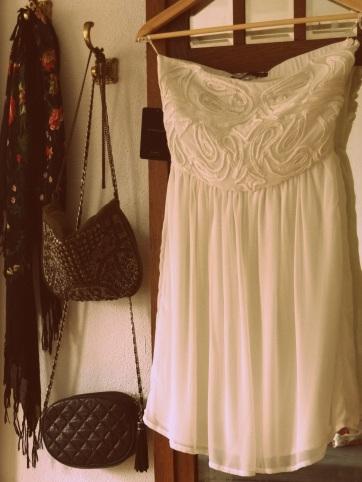 My perfect white zara dress with crochet details