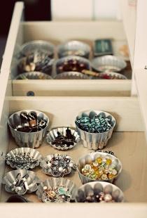 Jewels in tin cups