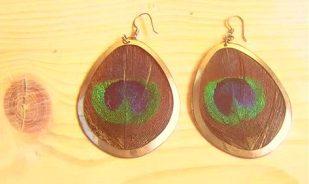 #4 H&M Peacock earrings