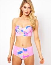 Asos high waist neon bikini