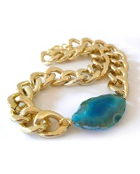 Chunky bracelet blue stone