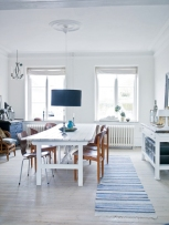 Danish chairs at kitchen table
