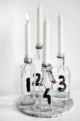 r glass candle holder