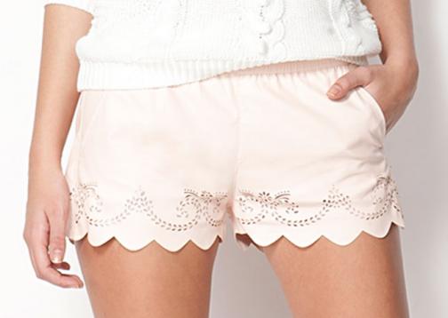 Leather look zara shorts