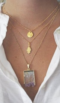 Wishlist gold necklaces