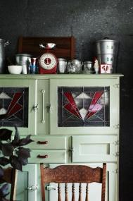 vintage green cabinet