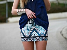 aztec blue skirt