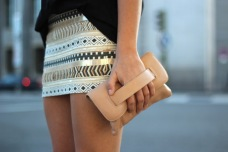 aztec gold skirt