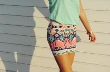 aztec pink skirt