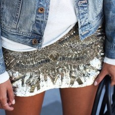 aztec sequins skirt