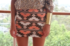 aztec skirt sequin top