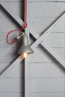 lamp silver red rope